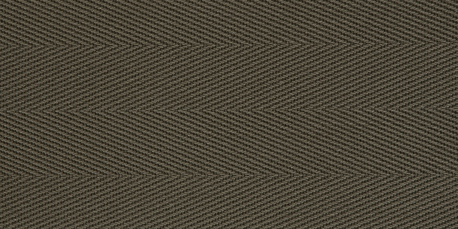 Olive Cotton Herringbone