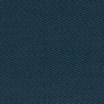 French Navy Cotton Herringbone