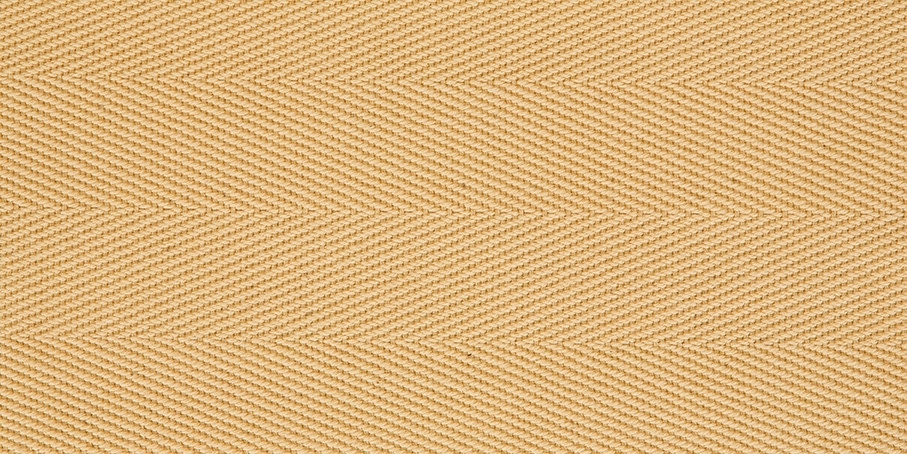 Pale Lemon Cotton Herringbone